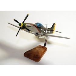 Maquette avion Mustang P-51 D Miss Marilyn II en bois
