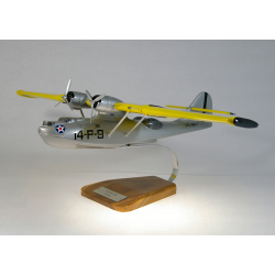 Maquette avion Catalina PBY US Coast Guard en bois