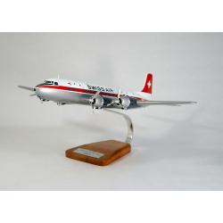 Maquette avion Douglas DC-6 Swissair en bois