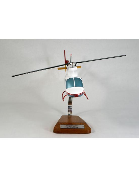 Maquette helicoptere Bell 206 Jet Ranger en bois
