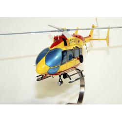 Maquette bois de l'hélicoptère- 145 B Sécurité Civile Dragon 25