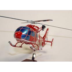 Maquette bois hélicoptère AS.365C1 Dauphin Sécurité Civile