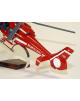 Maquette en bois de l'AS.365C1 Dauphin Sécurité Civile