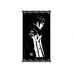 Toile Corto Maltese de Hugo Pratt - Penseur noir -