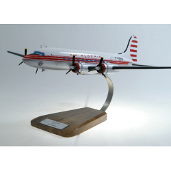 Maquette avion Douglas DC 4 Air Algerie en bois