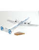 Maquette avion Lockheed Constellation Starliner Luxair en bois