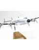 Maquette avion Lockheed Constellation Starliner Luxair en bois