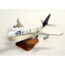 'Maquette avion Boeing 747/400 UTA ''Big Boss'' en bois'