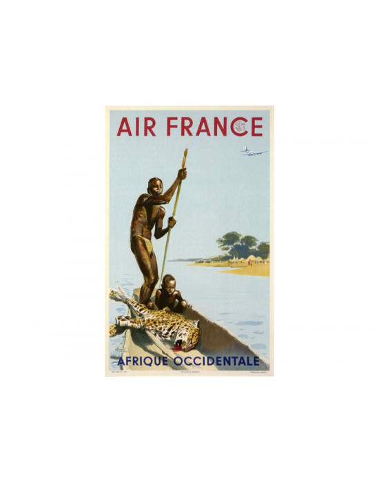 Affiche Air France / Afrique Occidentale