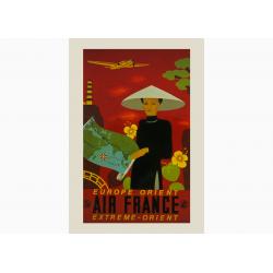 Affiche Air France / Europe-Orient et Extreme-Orient