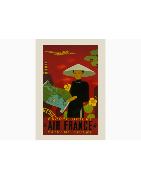Affiche Air France / Europe-Orient et Extreme-Orient