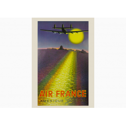 Affiche Air France / Amerique du Sud COLLECTOR