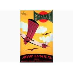 Affiche Air France / Airlines - Farman