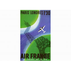 "Affiche Air France / Paris - Londres 2(""collector"")"