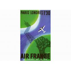 """Affiche Air France / Paris - Londres 2(""""collector"""")"""