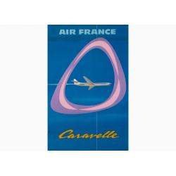 Affiche Air France / Caravelle