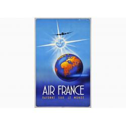 Affiche Air France / Rayonne sur le Monde