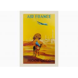 Affiche Air France / Proche Orient (Jaune)