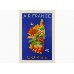 Affiche Air France / Corse