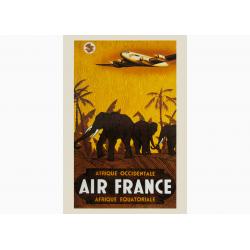 Affiche Air France / Afrique Occidentale-Afrique Equatoriale