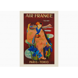 Affiche Air France / Paris - Tokio COLLECTOR