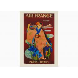 Affiche Air France / Paris - Tokio COLLECTOR
