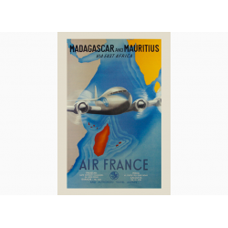 Affiche Air France / Madagascar & Mauritius