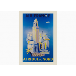 Affiche Air France / Afrique du Nord
