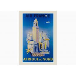 Affiche Air France / Afrique du Nord