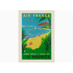 Affiche Air France / L'ile Maurice