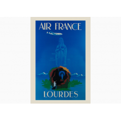 Affiche Air France / Lourdes