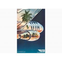 Affiche Air France / UTA Pacifique