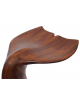 Tabouret queue de baleine en bois noble