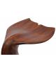 Tabouret queue de baleine en bois noble