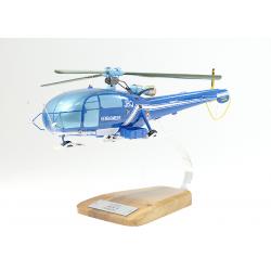 Maquette Alouette 3 SE319 en bois