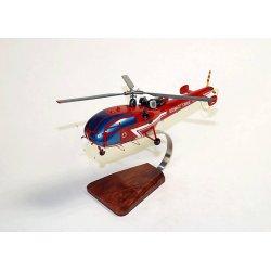 (Prochaine arrivée fin janvier 2019) Maquette bois hélicoptère de l'Alouette III SA.316B Sécurité Civil