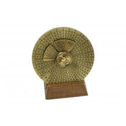 Calendrier perpétuel ( diam. 9cm - poids 295 gr. )