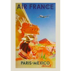 Affiche Air France / Paris-Mexico