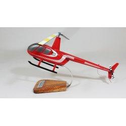 Maquette en bois helicoptère Robinson R44