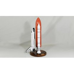 Maquette(GM) fusee US Space Shuttle 'Challenger' Booster en bois