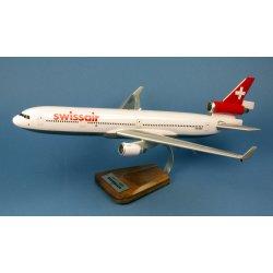 Maquette avion MD11 Swissair HB-IWU en bois
