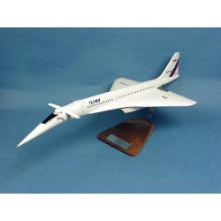 Maquette avion Tupolev Tu 144S Aeroflot CCCP-77102 en bois