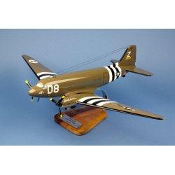 Maquette avion C-47 Skytrain D USAAF en bois