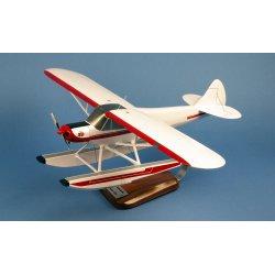 Maquette avion Piper PA-18 Super Cub Floatplane en bois