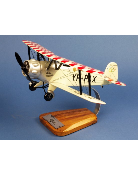 Maquette avion Bücker Bü.133B Jungmeister Alex Papana YR-PAX en bois