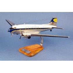 Maquette avion Douglas DC-3 Lufthansa en bois