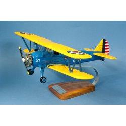 Maquette avion Boeing PT-17 Kaydet Stearman US ARMY en bois