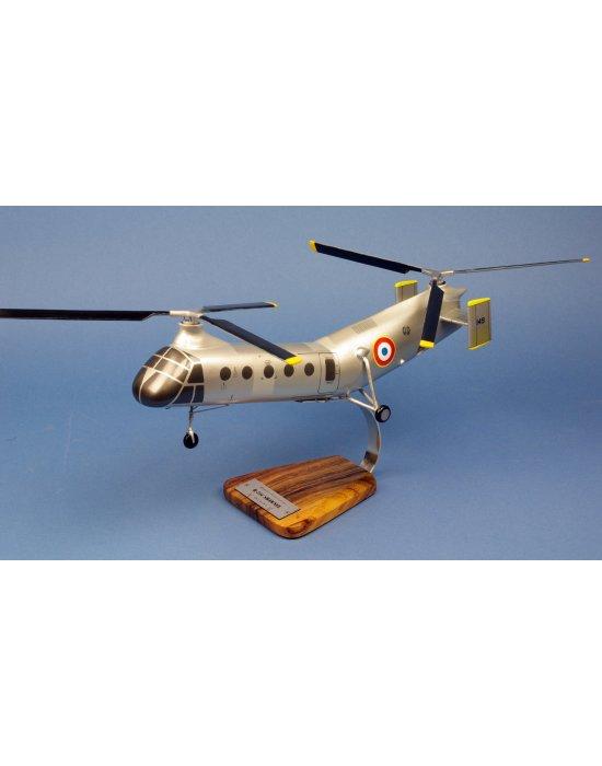 Maquette hélicoptère H-21 Piasecki-Vertol Shawnee en bois