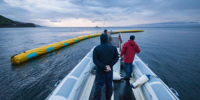 le projet ocean cleanup pour nettoyer les oc ans passe enfin au test en mer du nord. Black Bedroom Furniture Sets. Home Design Ideas